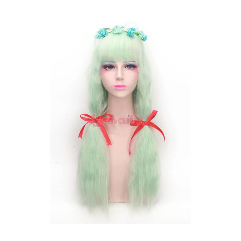 Girls Fashion Long Synthetic Waved Fluffy Wigs