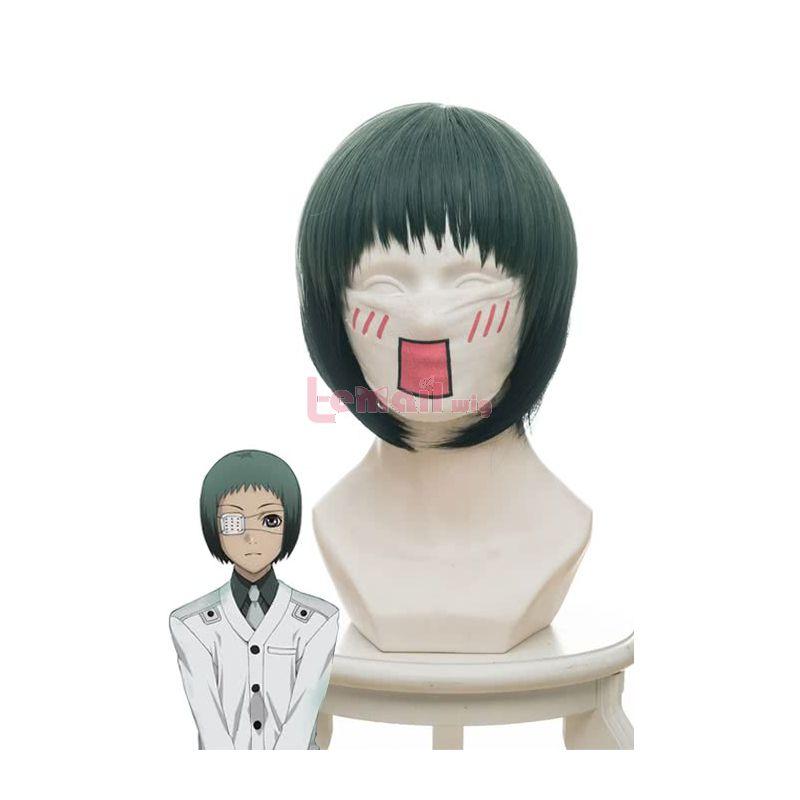 Anime Tokyo Ghoul Mutsuki Toru Gradient Green Black Cosplay Wigs