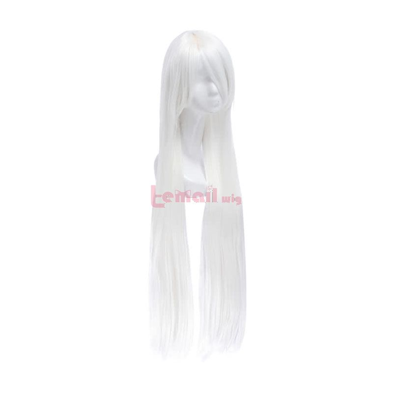 Long White Anime Inuyasha Straight Synthetic Men Cosplay Wigs