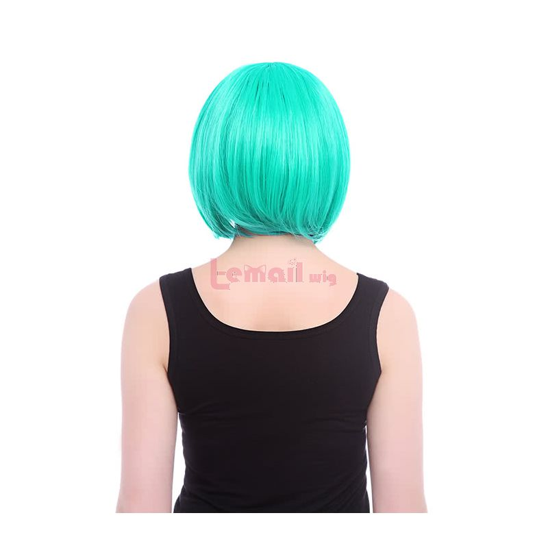 Lady Gaga Style BOB Short Synthetic Hair Teal Green Straight Cosplay Wigs