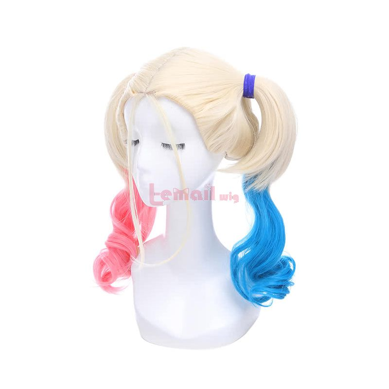 Suicide Squad Harley Quinn Dip Dye Wave Cosplay Wigs