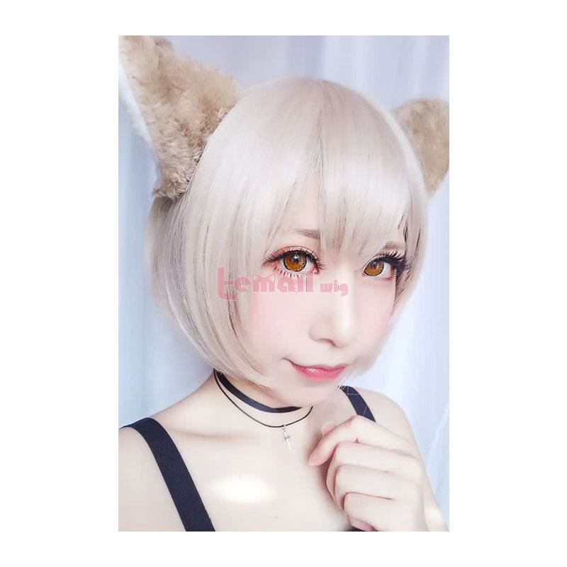 Anime Life in A Different World From Zero Felix Argyle Khaki Light Brown Synthetic Hair Short Straight Bob Style Cospaly Wigs