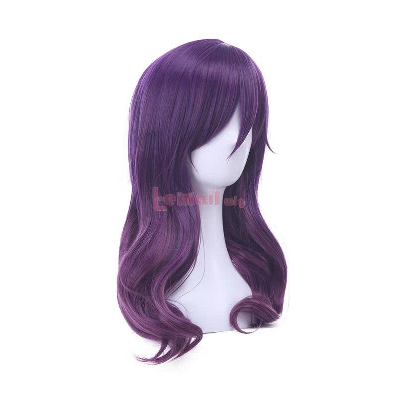 Watashi ga Motete Dousunda (Kiss Him, Not Me) Kae Serinuma Purple Medium Long Curly Cosplay Wigs