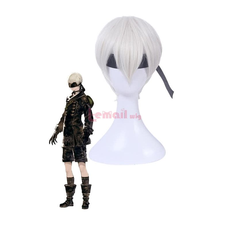 NieR:Automata Yorha No. 9 Type S Short Straight beige Synthetic Hair Cosplay Wigs