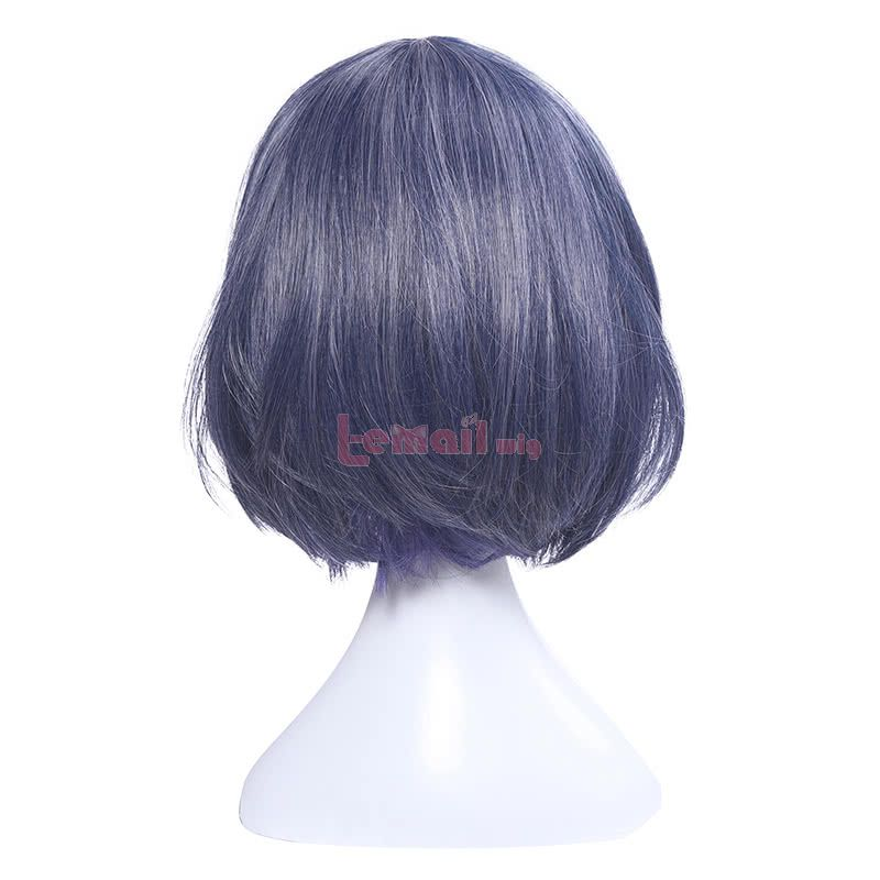 Game Sinoalice Alice Short Blue Straight Synthetic Women Cosplay Wigs