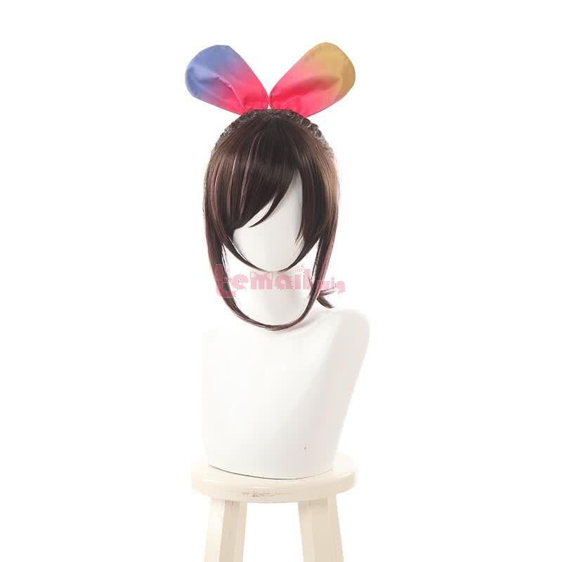 Kizuna AI Cosplay Wigs Brown Mixed Pink Cosplay Wigs