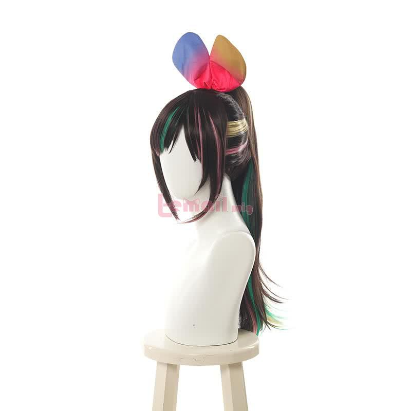Virtual Youtuber AI Channel Kizuna AI Mixed Color Ponytail Cosplay Wigs