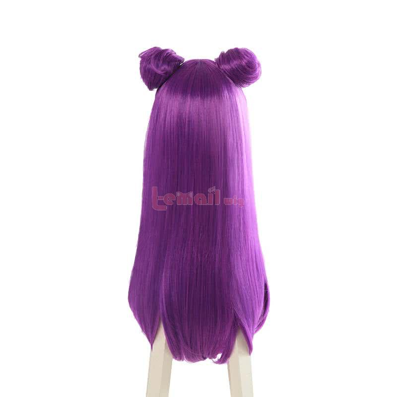 LOL KDA Skin Kaisa Long Straight Purple Cosplay Wigs