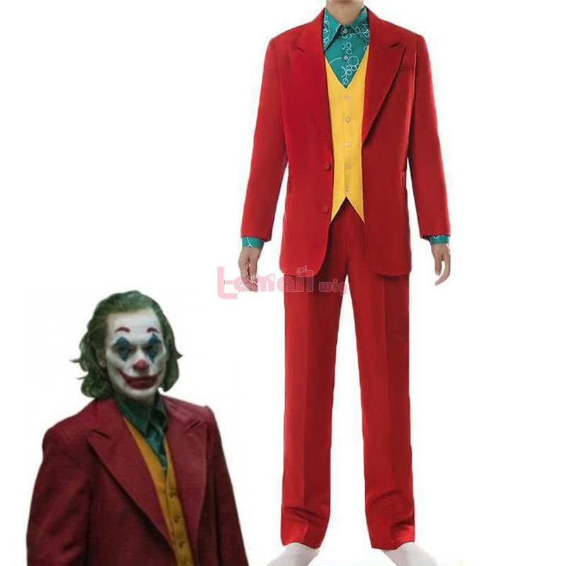 Movie Joker Arthur Fleck Halloween Male Suit Cosplay Costume