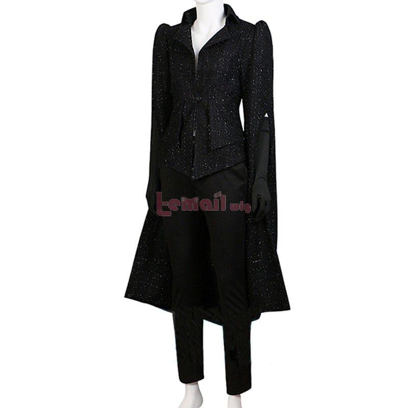 Movie White And Black Cruella Cruella de Vil Black Coat Cosplay Costume