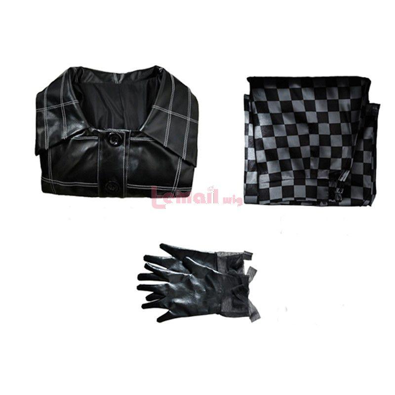 Movie White And Black Cruella Cruella de Vil Black Outfit Cosplay Costume