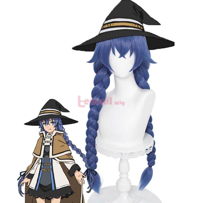 Mushoku Tensei Jobless Reincarnation Roxy Migurdia Blue Braided Cosplay Wigs