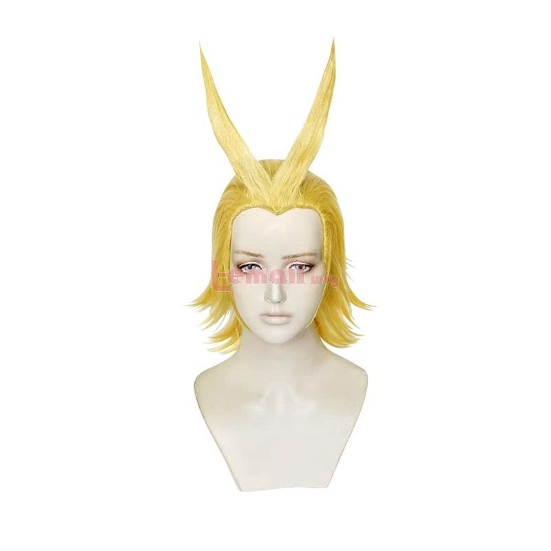 My Hero Academia Anime All Might Short Blonde Men Cosplay Wigs