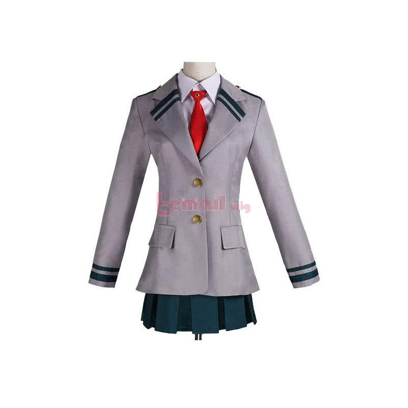 My Hero Academia Tsuyu Asui Students Uniforms Cosplay Costumes