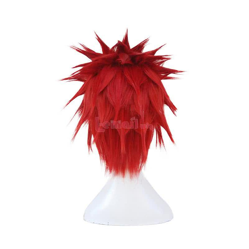 Anime My Hero Academia Eijiro Kirishima Short Red Synthetic Men Cosplay Wigs