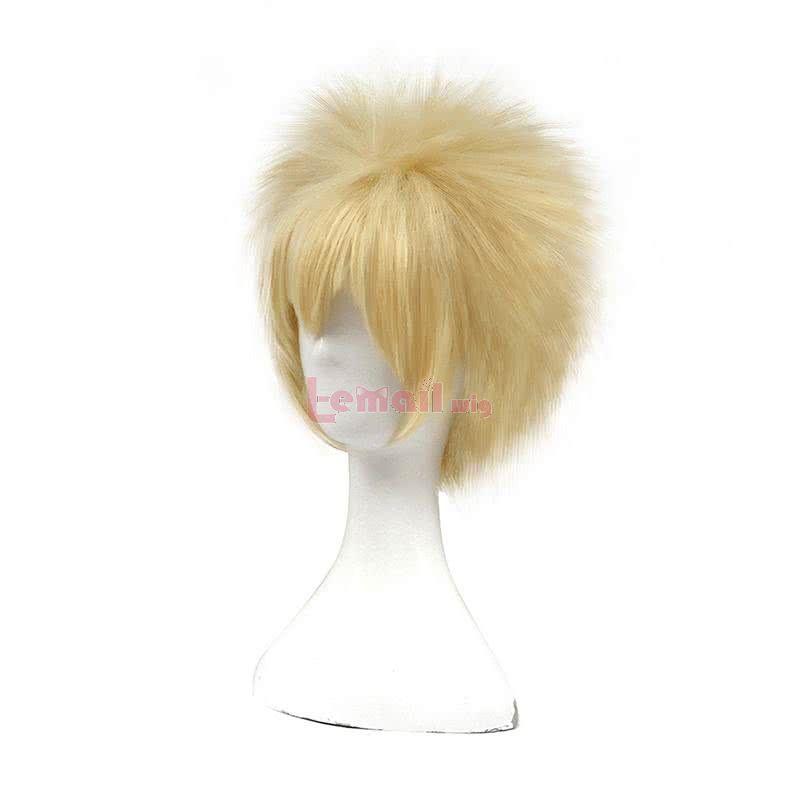 Anime My Hero Academia Katsuki Bakugō Short Blonde Cosplay Wigs