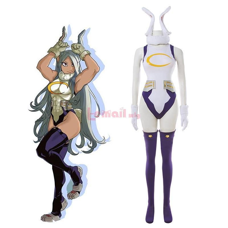Anime My Hero Academia Miruko Sexy Women Rabbit Jumpsuit Cosplay Costume