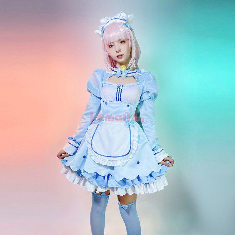 NEKOPARA 4 Vanilla Lolita Dress Cosplay Costume