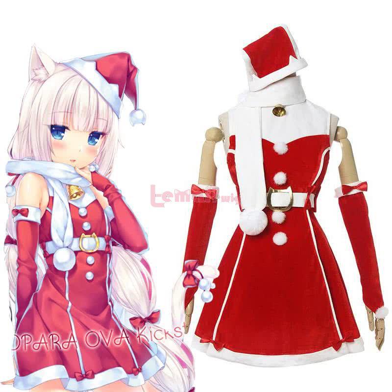 Nekopara Chocola and Vanilla Christmas Suit Fullset Vanilla Cosplay Costume