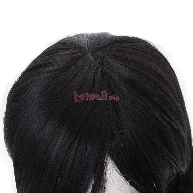 OW Academy D․Va Hana Song Long Black ponytail Cosplay Wigs