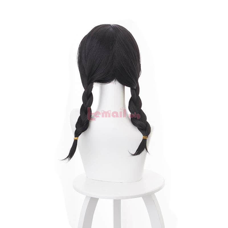 OW Academy D․Va Hana Song Long Black ponytail Cosplay Wigs