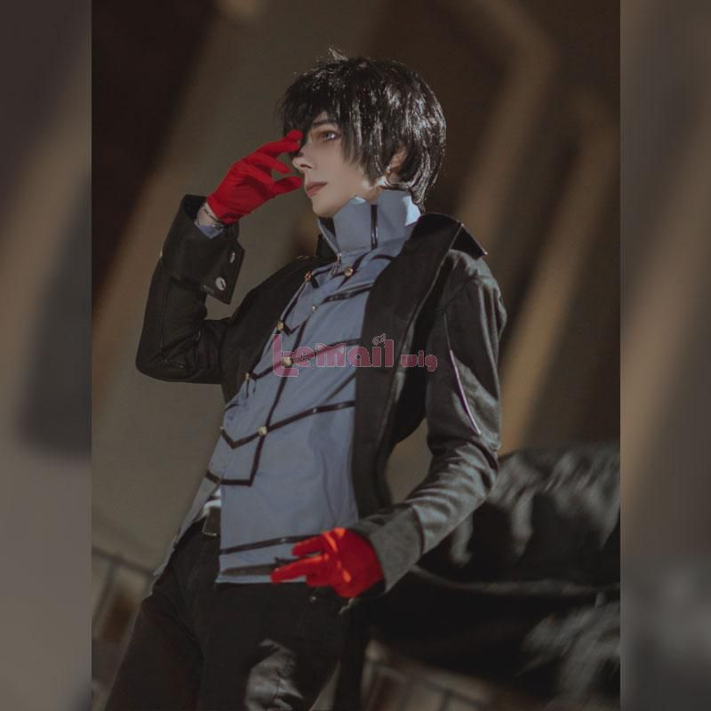 Game Persona 5 Joker Short Black Synthetic Men Cosplay Wigs