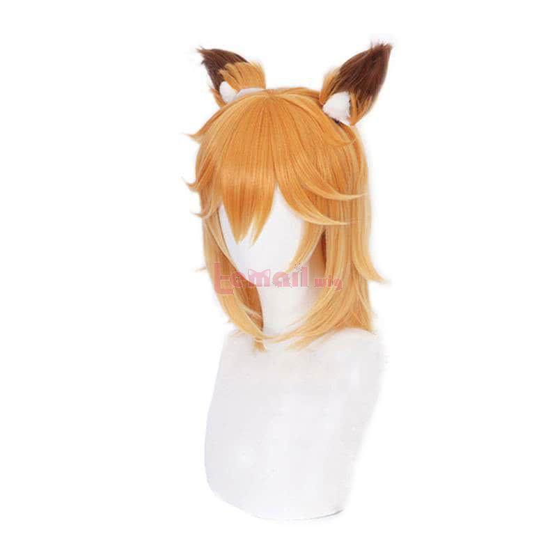Sewayaki Kitsune no Senko-san Senko-san Straight Blonde Cosplay Wigs