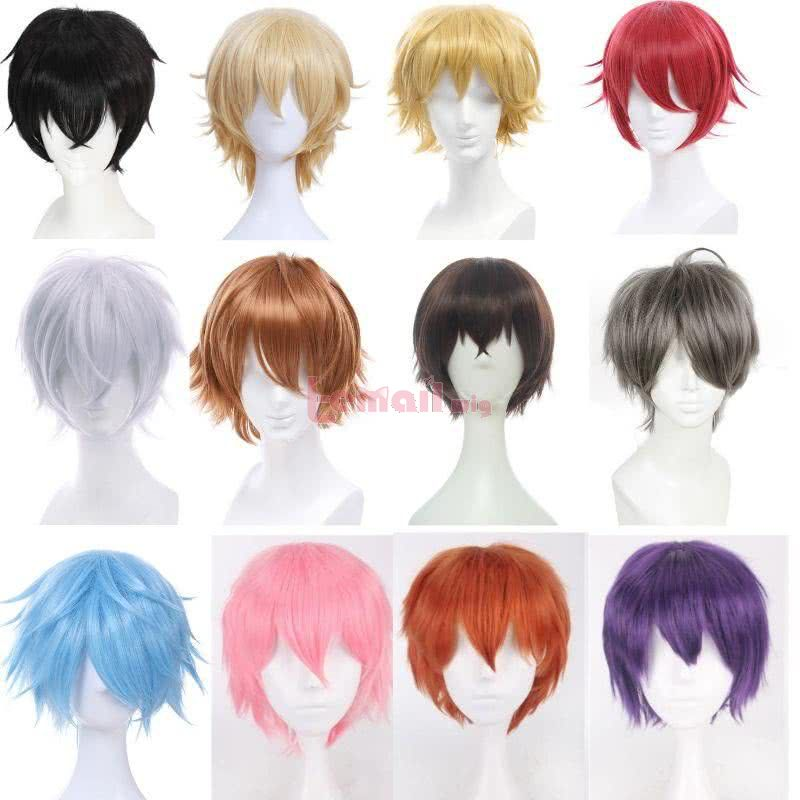 Short Men Cosplay Wigs
