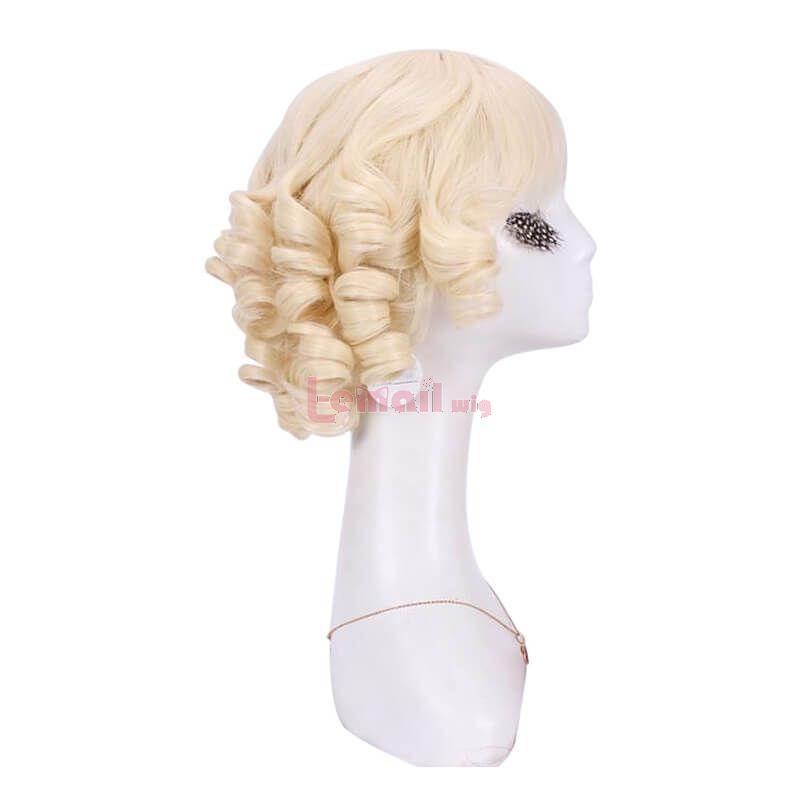 Short Curly Cute Blonde Women Fashion Wigs