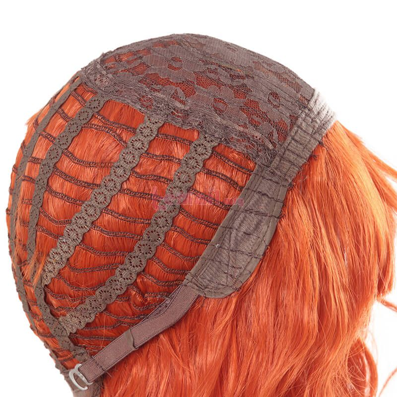 Short Curly Cute orange Women Fashion Wigs