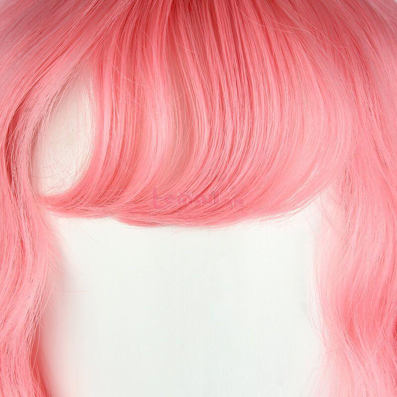 Short Curly Cute Pink Women Fashion Wigs
