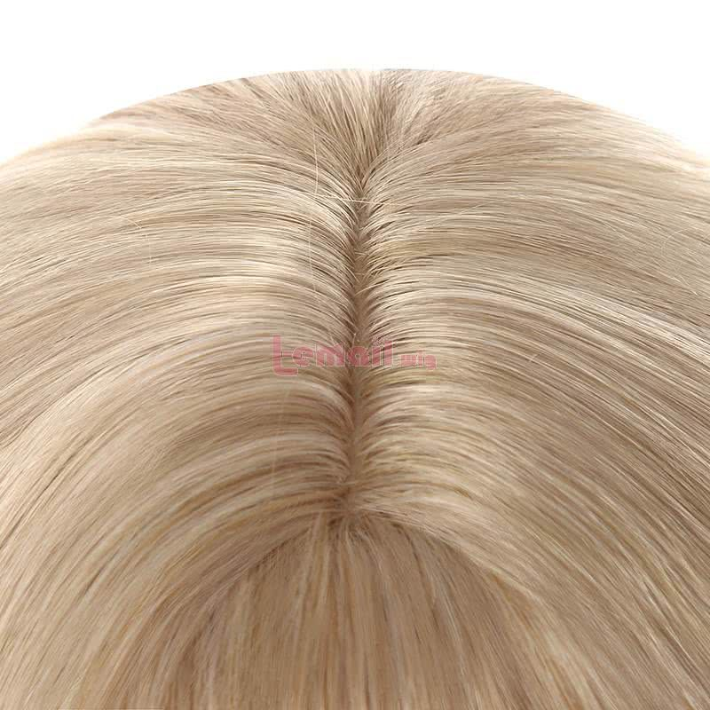 Women 40cm Short Curly Wigs Fashion Blonde Lolita Wigs