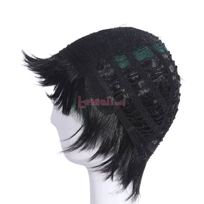 Short Green My Hero Academia Anime Izuku Cosplay Wigs ML216