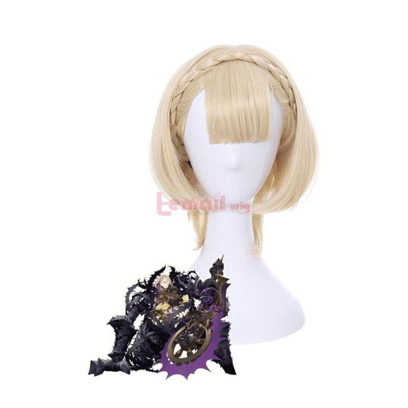 SINoALICE Briar Rose Sleeping Beauty Wig Short Beige Women Cosplay Wigs