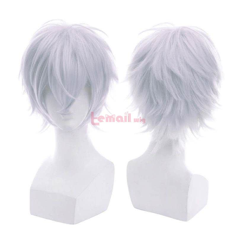 white short wigs cosplay