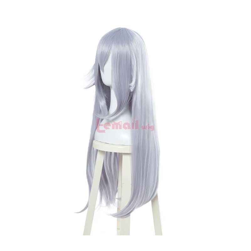 Game Super Mario Bowsette 80cm Long Light Purple Cosplay Wigs