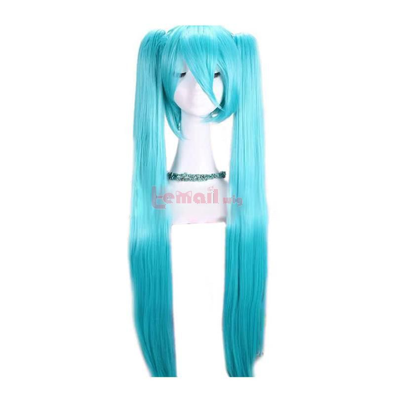 Supper Long Anime Teal Light Blue Long Straight Cosplay Wigs
