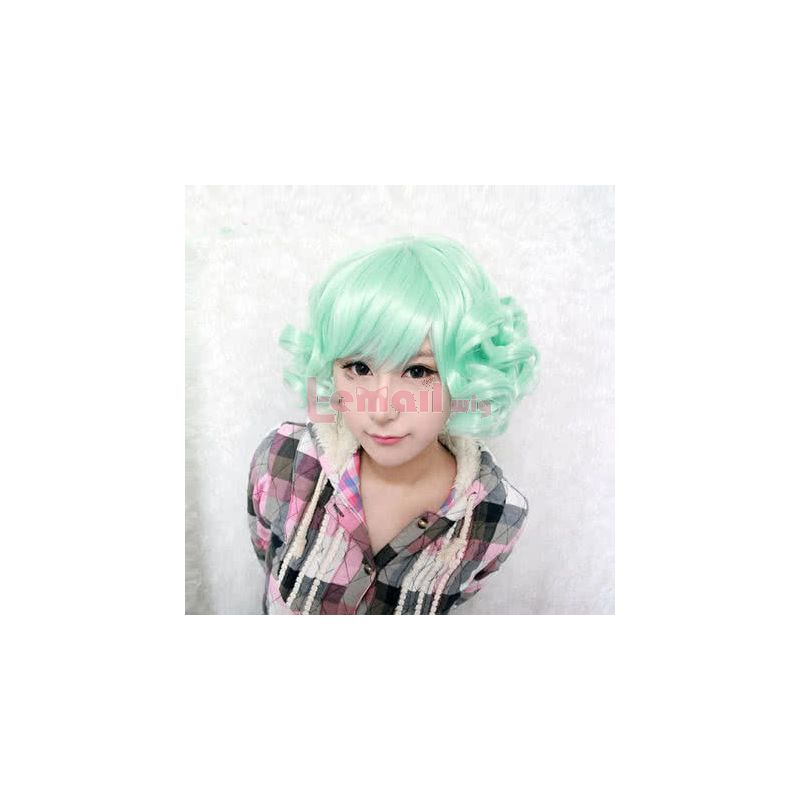 30cm Short Mintcream BOB Lolita Wave Curly Cosplay Wig