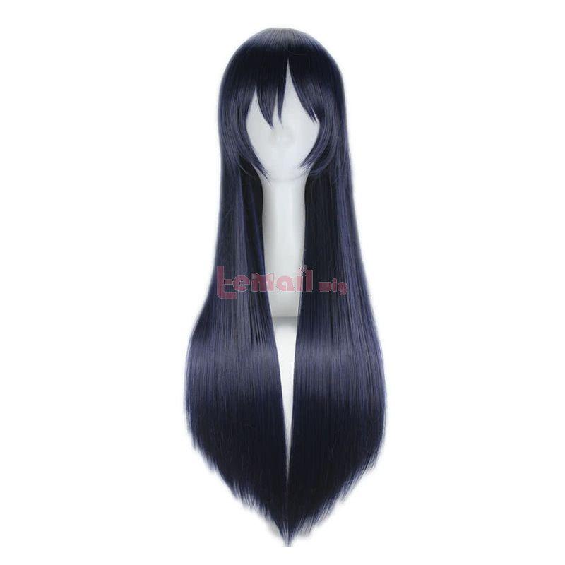 80cm Long Love Live! Sonoda Umi Dark Blue Cosplay Wig