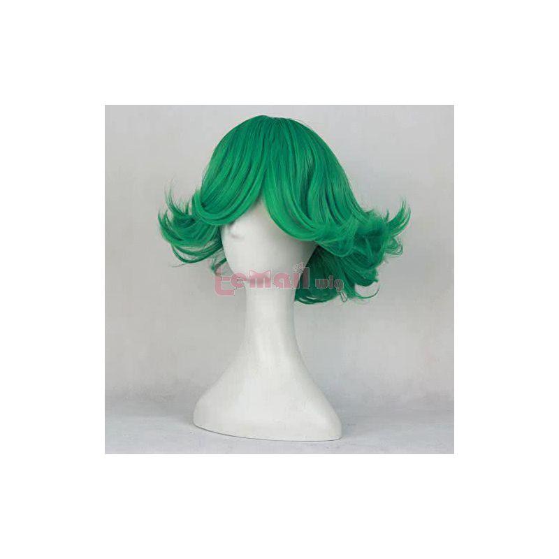 Anime One Punch Man Tatsumaki Green Curly Cosplay Wig
