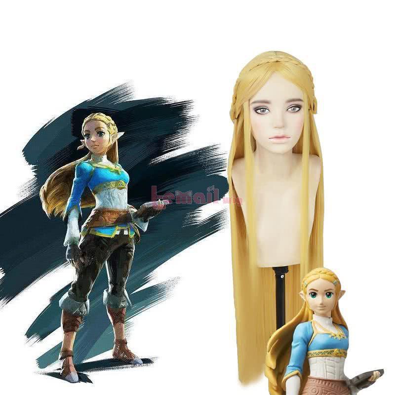 The Legend of Zelda: Breath of the Wild Princess Zelda Long Straight Blonde Cosplay Wigs