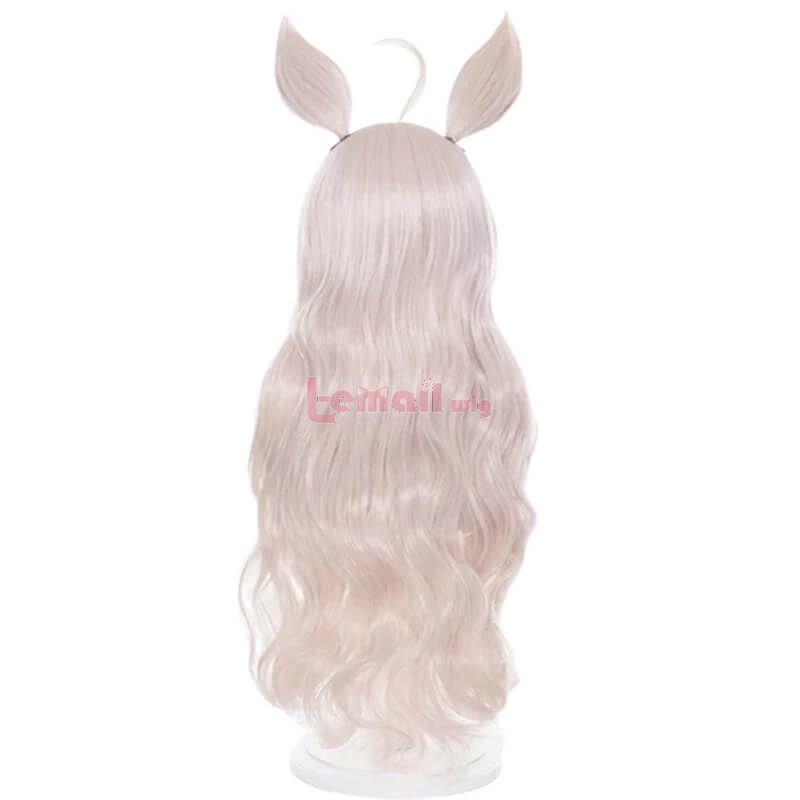 Uma Musume Pretty Derby Biwa Hayahide Cosplay Wigs with Ears Bangs