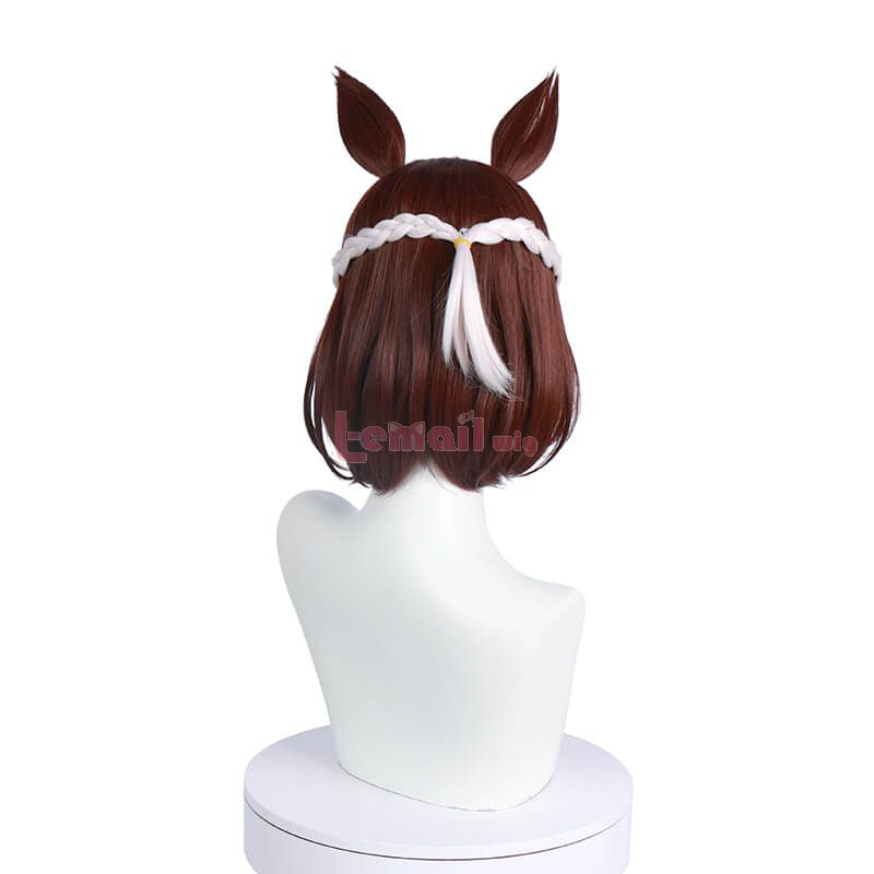 Anime Uma Musume Pretty Derby Special Week Short Straight Brown Cosplay Wigs