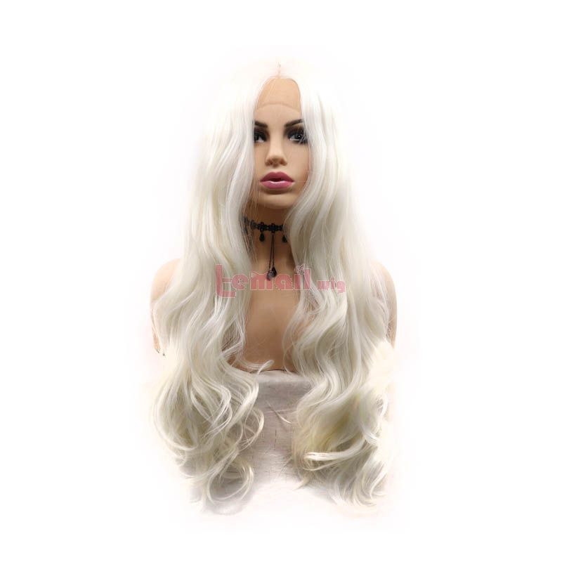 White Lace Front Wigs Cosplay Wigs