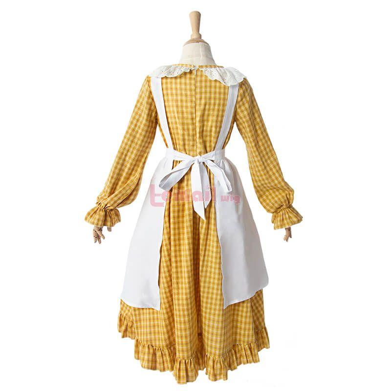 Pioneer Girl Dress Yellow Grid