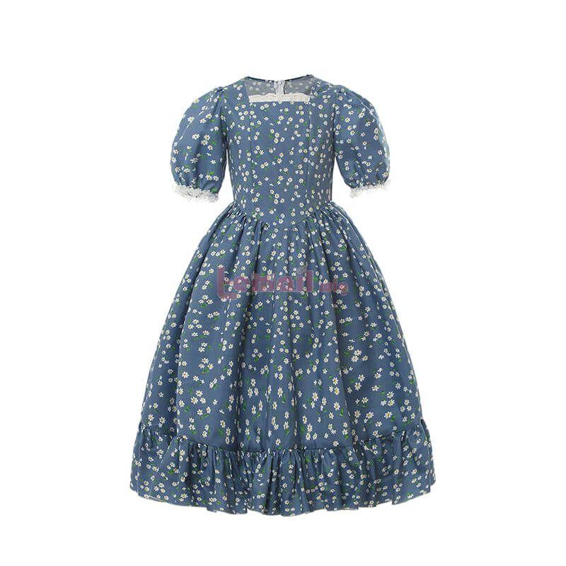 Floral Vintage Prairie Dress for Kids