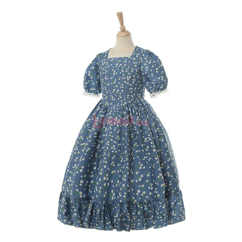 Short Vintage Prairie Dress for Kids
