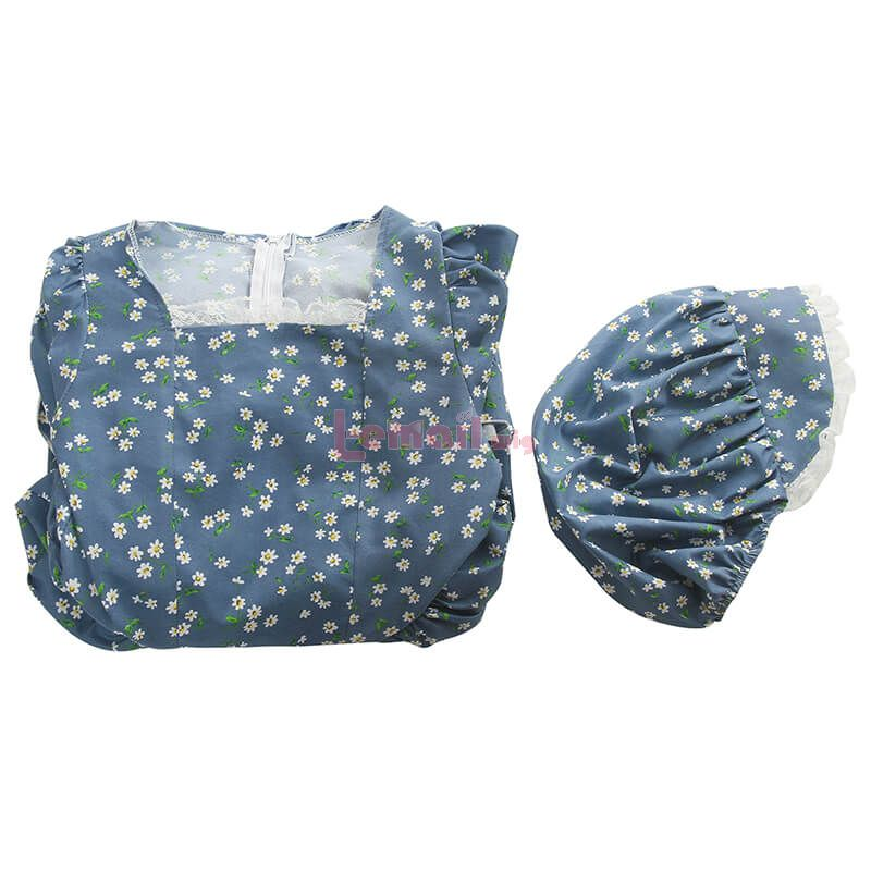 Vintage Prairie Dress for Kids with Bonnet