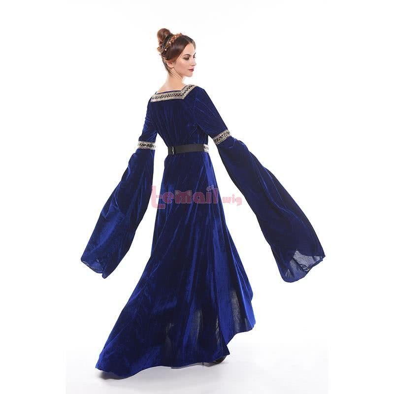 Women Renaissance Victorian Medieval Four Colors Long Vintage Dress