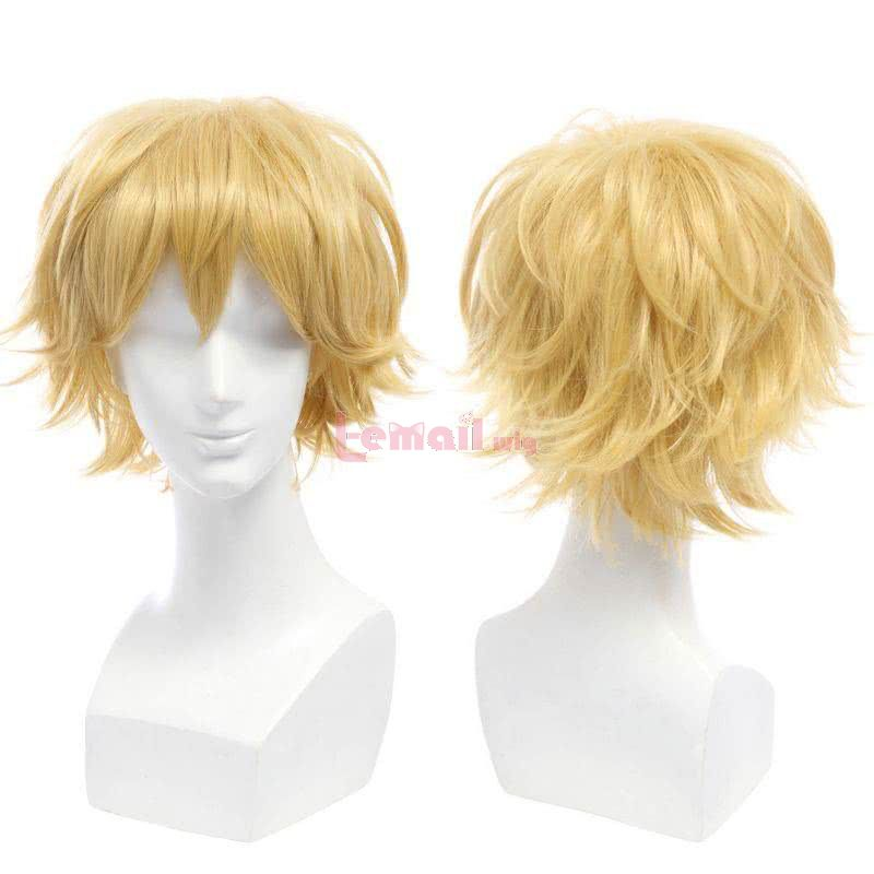 yellow short cosplay wigs
